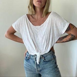 AMERICAN RAG Crop Tie Shirt